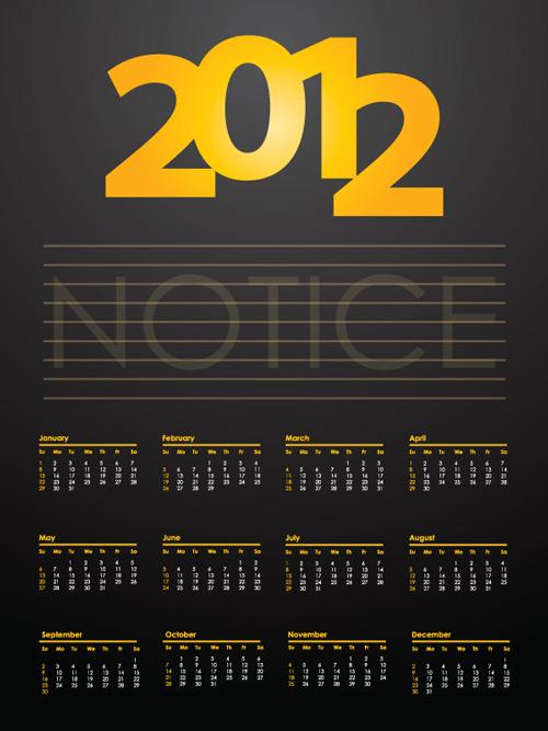 Дизайн календарей 2012